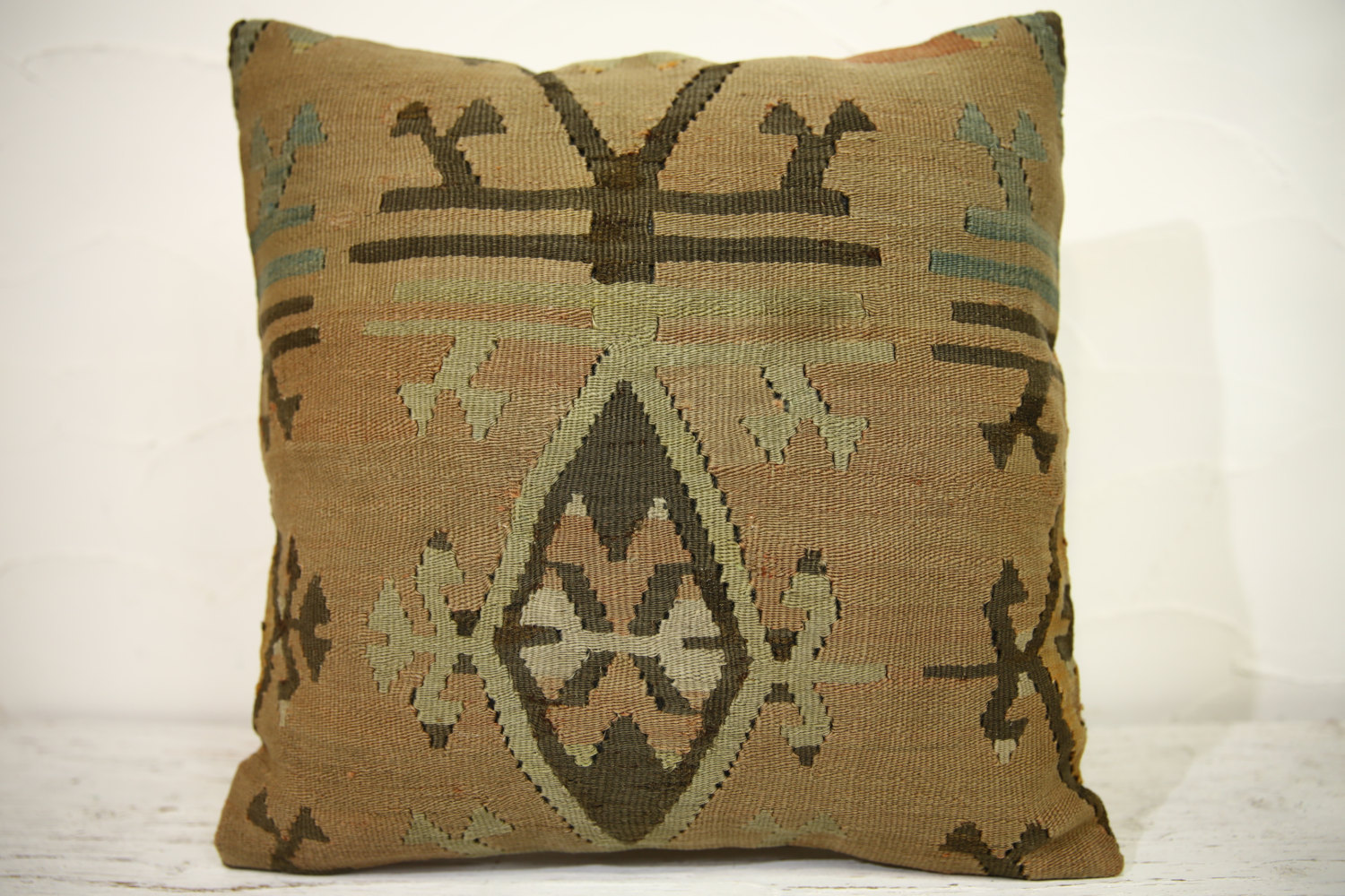 Kilim Pillows | 16x16 | Turkish pillows | 1146 | Ethnic Pillow , Kelim cushion