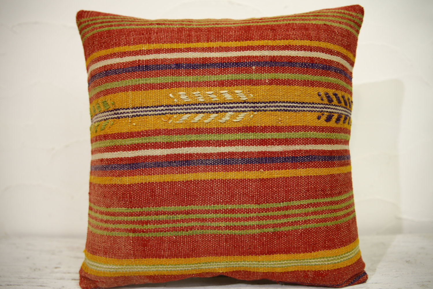 Kilim Pillows | 16x16 | Turkish pillows | 1153 | Ethnic Pillow , Kelim cushion