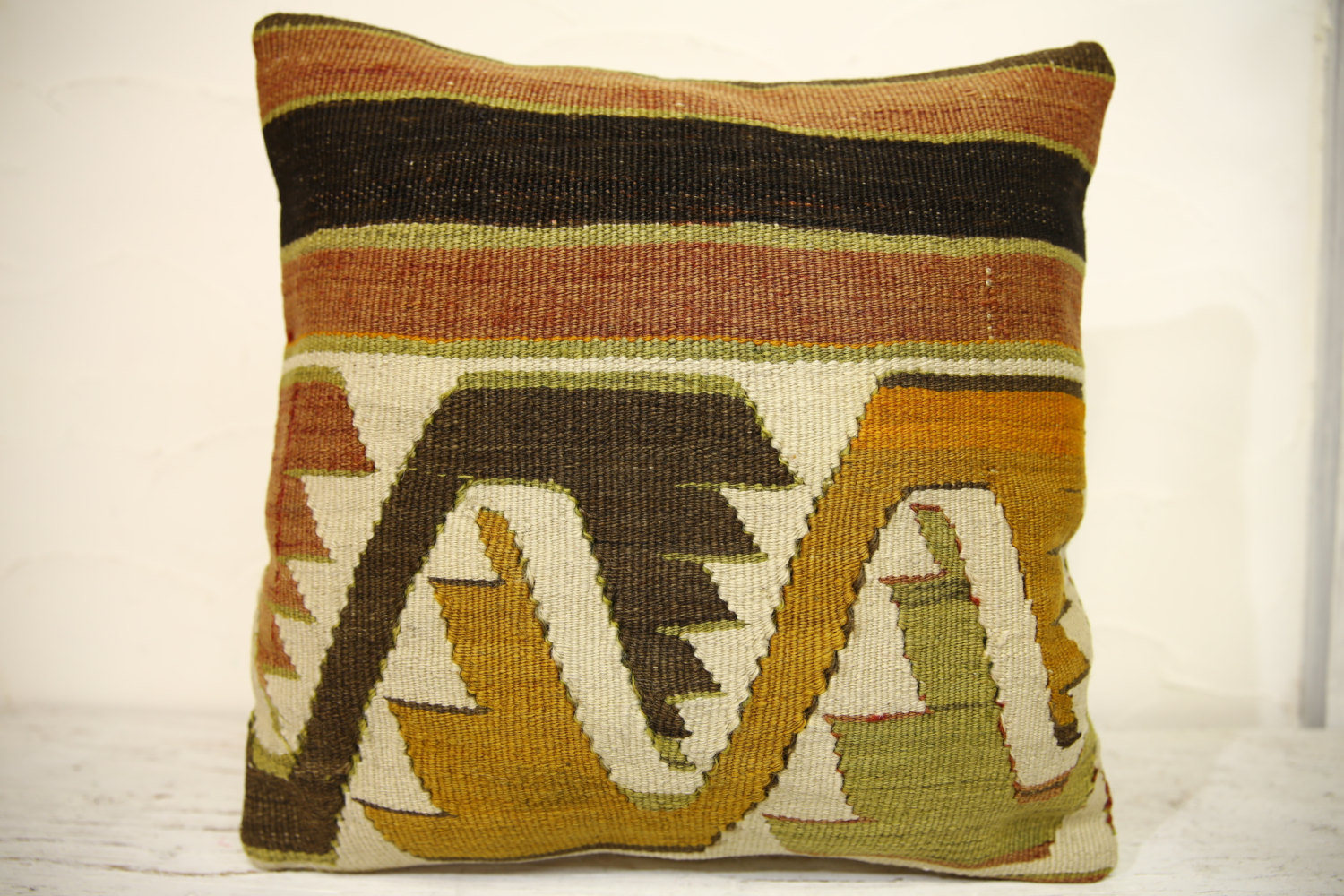Kilim Pillows | 16x16 | Turkish pillows | 1329 | Accent Pillows , Decorative
