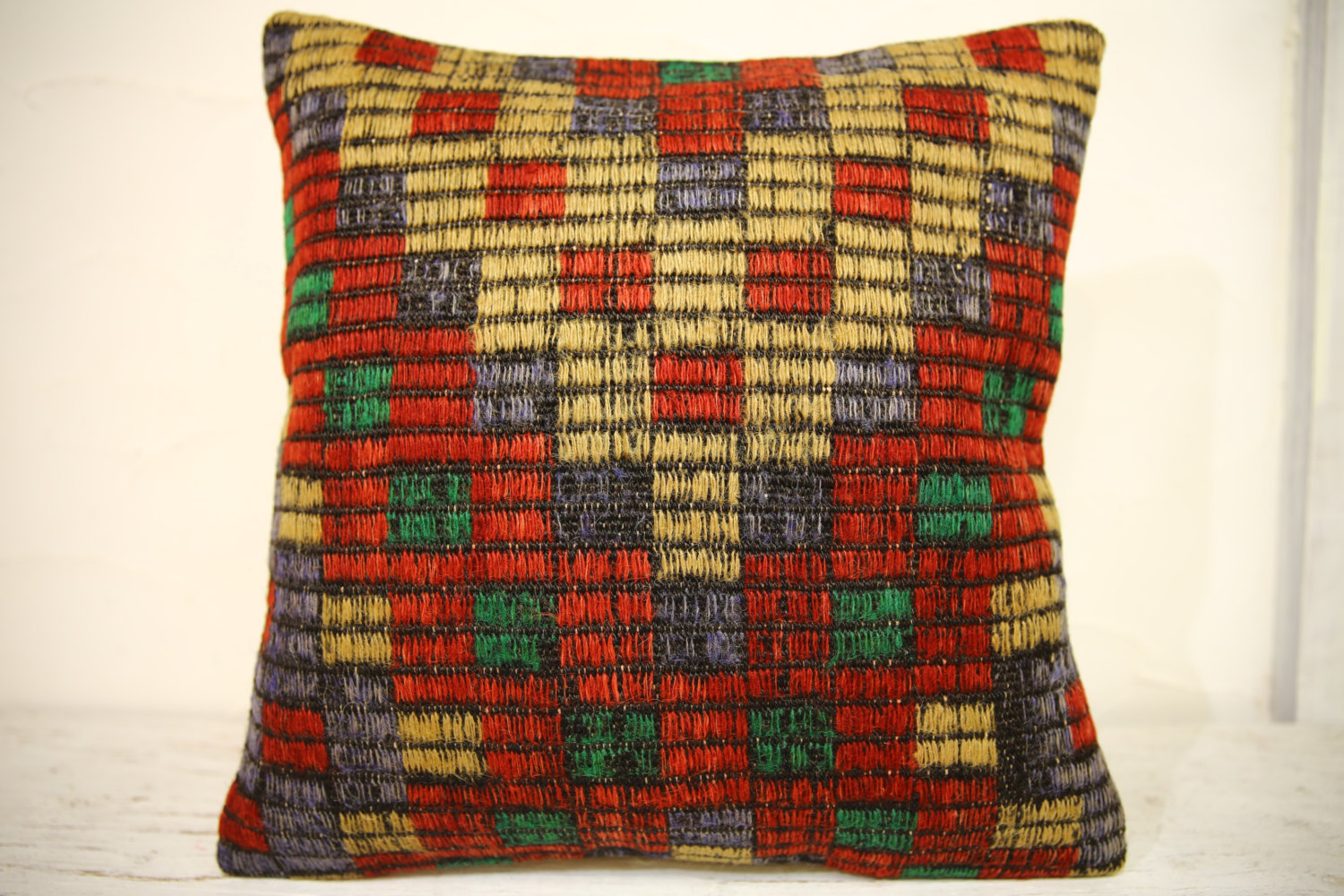 Kilim Pillows | 16x16 | Turkish pillows | 1317 | Accent Pillows , Decorative