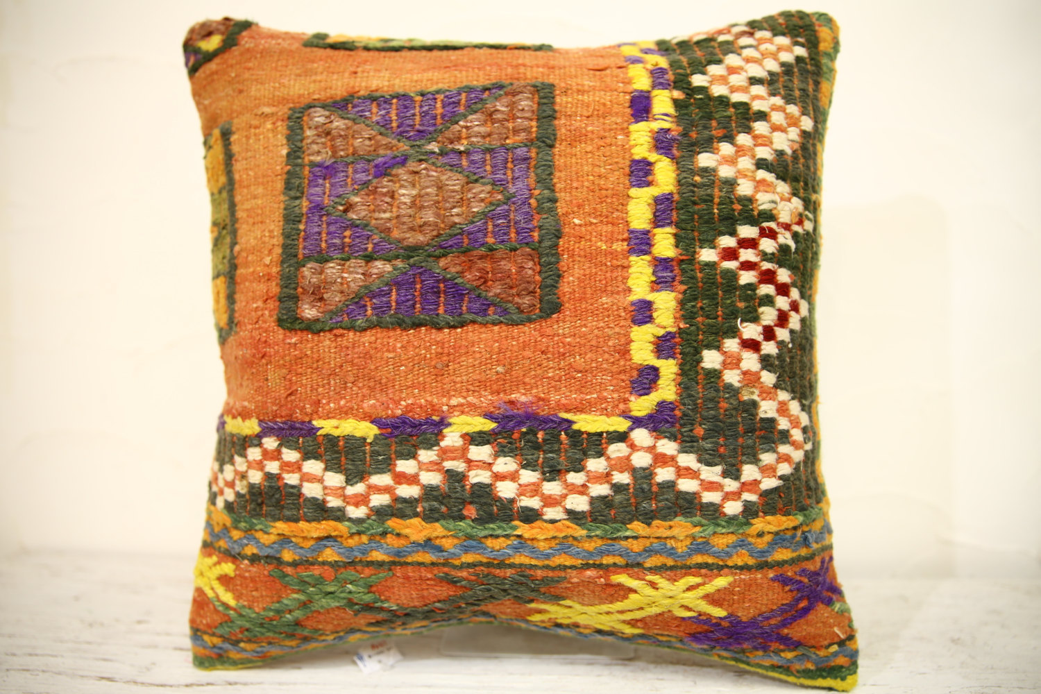 Kilim Pillows | 16x16 | Turkish pillow | 1314 | Accent Pillows,Decorative Pillow