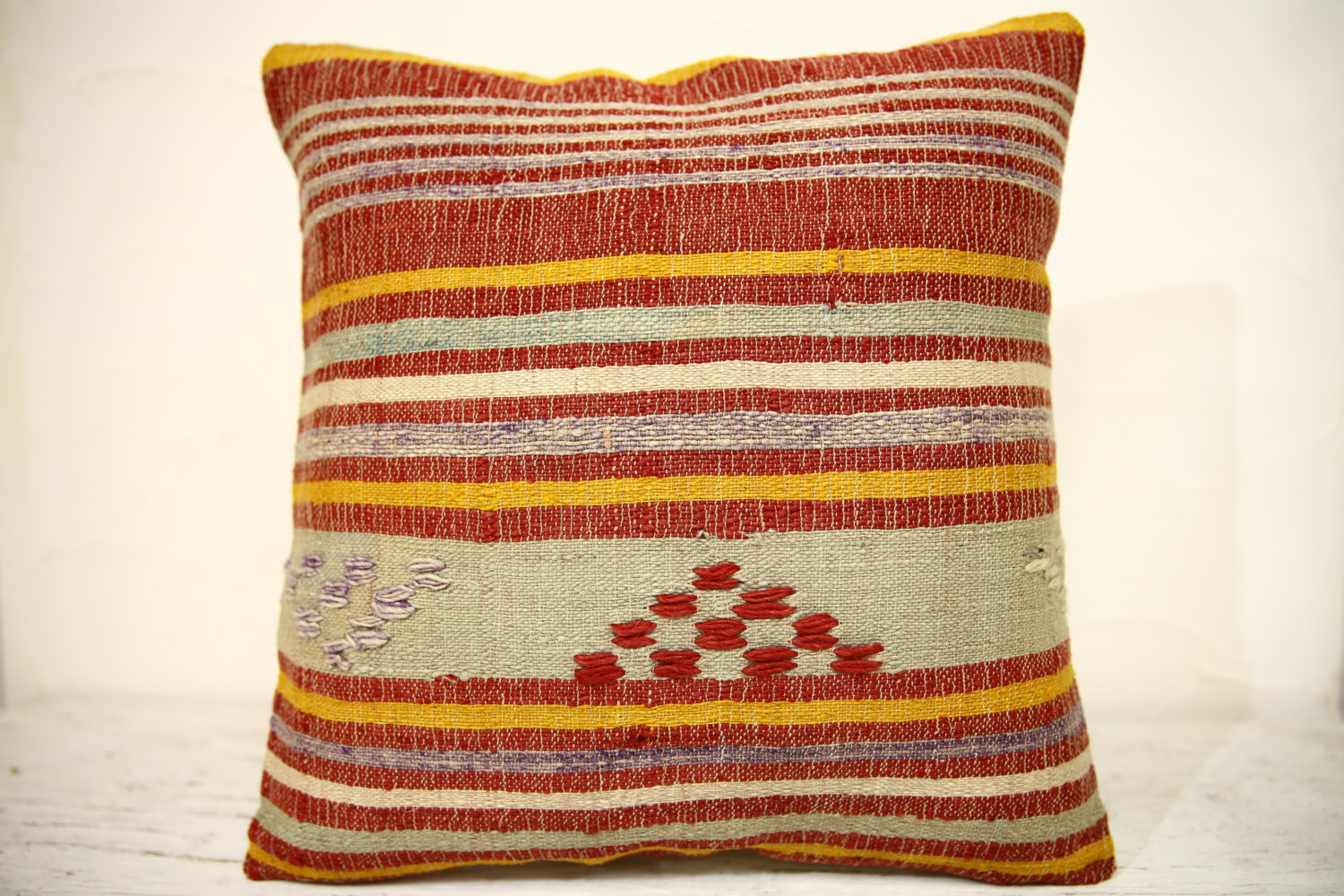 Kilim Pillows | 16x16 | Turkish pillows | 1308 | Accent Pillow,Decorative pillow