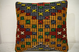 Kilim Pillows | 16x16 | Turkish pillows | 1166 | Ethnic Pillow , Kelim c... - $35.00