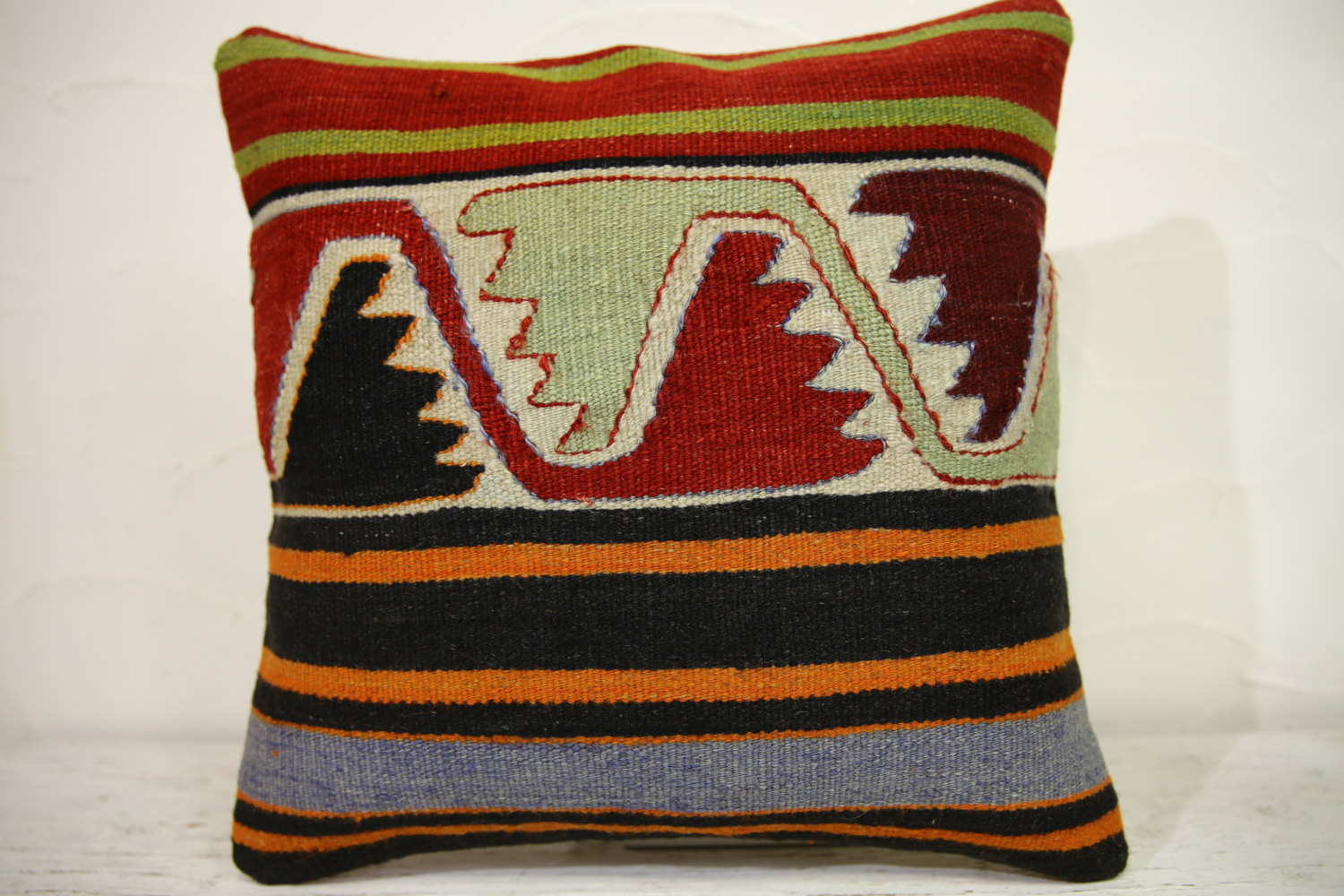 Kilim Pillows | 16x16 | Turkish pillows | 1163 | Ethnic Pillow , Kelim cushions