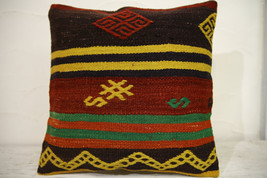 Kilim Pillows | 16x16 | Turkish pillows | 1122 | Ethnic Pillow , Kelim c... - $35.00