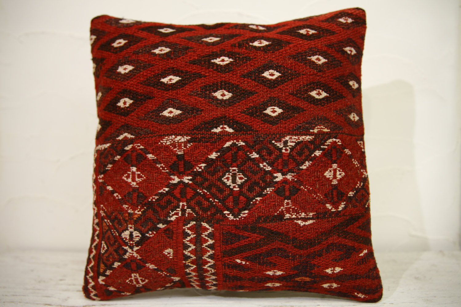 Kilim Pillows | 16x16 | Turkish pillows | 1129 | Ethnic Pillow , Kelim cushion