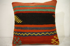 Kilim Pillows | 16x16 | Turkish pillows | 1124 | Ethnic Pillow , Kelim c... - $35.00