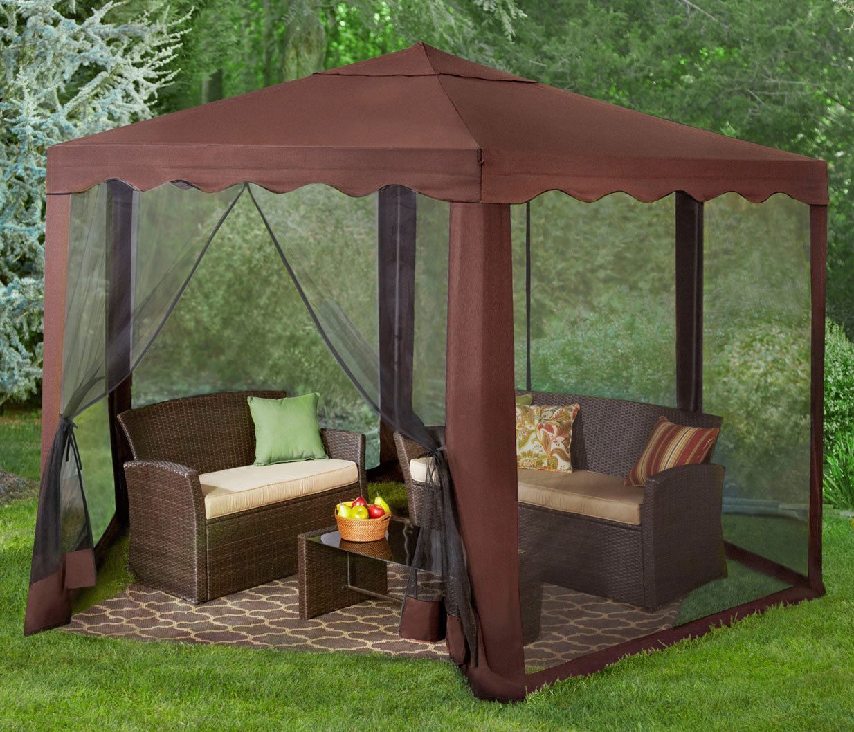 Hexagon gazebo outdoor furniture patio yard party tent for Outdoor furniture gazebo