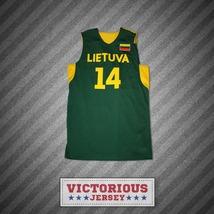 Jonas Valanciunas 14 Lietuva Lithuania Basketball Jersey Any Player Stitch Sewn - $45.99