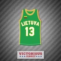Sarunas Marciulionis 13 Lietuva Lithuania Basketball Jersey Stitch Sewn - $45.99