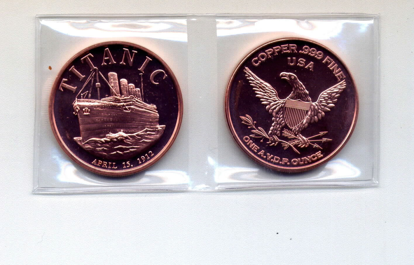 Titanic 1912 1 oz .999 Copper Bullion Coin