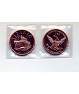 Titanic 1912 1 oz .999 Copper Bullion Coin - $8.95