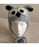Gray Owl Hat w/Ties for Children - Animal Hats - Medium - $16.00