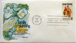 March 18, 1972 First Day of Issue, Fleetwood Cover, Family Planning #4 - $0.99