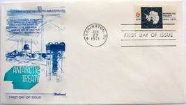 June 23, 1971 First Day of Issue, Fleetwood Cover, Antarctic Treaty #20 - $0.99