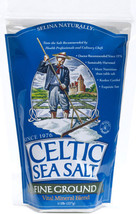 CELTIC SEA SALT ~ FINE GROUND ~ 3 BAGS - $24.70