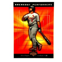 Albert Pujols 2001 Upper Deck Breakout Performers Rookie Insert Card #BP2 - $29.65
