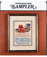 Astor Place Cat Perforated Paper Sampler Cross Stitch Pattern - $15.63
