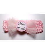 Monthly Milestone Marker 12 Month Headband Set w/Sparkling Pink Tulle Bow  - $25.00