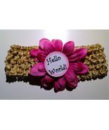 Monthly Milestone Marker 12 Month Headband set w/ Flower for Newborn Bab... - $25.00