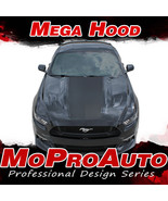 2015 Ford Mustang MEGA Wide Center Hood Racing Stripes 3M Vinyl Graphic ... - $149.99