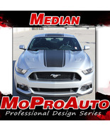 2015 Ford Mustang Snake Wide Center Hood Racing Stripes 3M Vinyl Graphic... - $229.99