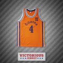 Drazen Petrovic 4 Sibenka Orange Basketball Jersey - $45.99