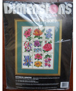 Dimensions Crewel Embroidery Kit Botanical Beauties Pretty Flowers #1446... - $44.05