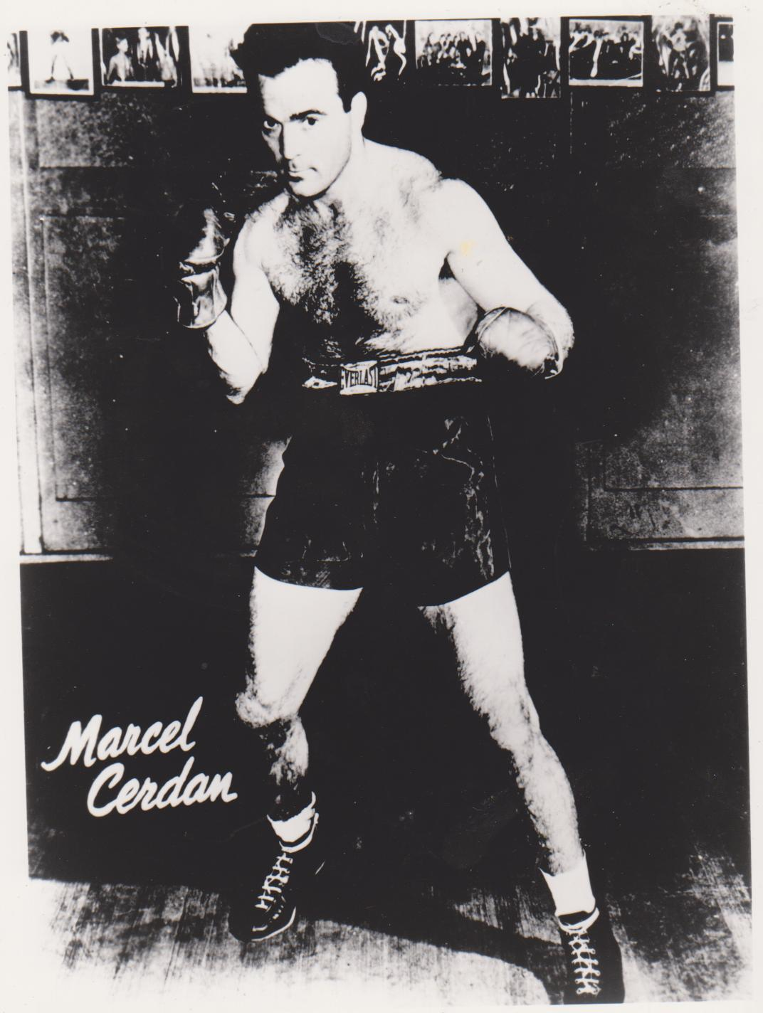 Marcel Cerdan Vintage 8X10 BW Boxing Memorabilia Photo - $4.99