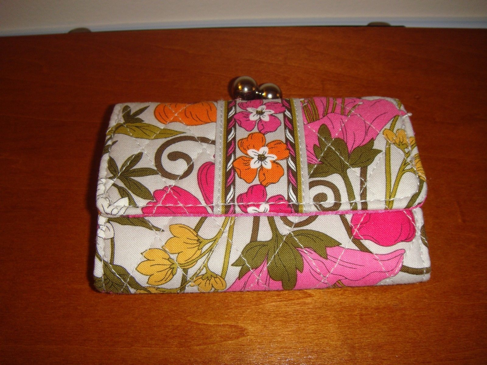 Vera Bradley Tea Garden Small Kisslock Wallet