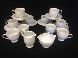 18 pcs. Mikasa 'Classic Flair'  K1991 Footed Cups Saucers Creamer  Lidde... - $59.99