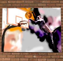 Monkey Slam Dunk Painted Poster Digital Print M... - $11.99 - $49.99
