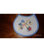 New Baby bib Blue Bird Ribbons Heart boy or girl Unisex Finished Cross S... - $18.83