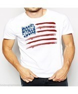 American Flag, T-shirt, independence day, 4th of july, USA, US flag, tan... - $26.03 CAD+