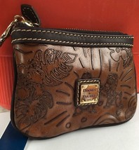 Disney Dooney & Bourke Aulani Hawaii Brown Leather Small Wristlet Mickey Minnie - $108.89