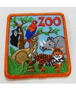 Zoo patch wild animal iron on monkey tiger rhino kangaroo bird - $7.91