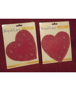 "Valentine Heart Lace Cut Out Paper Doilies Red Wedding Shower 6"" 2 packs... - $9.97"