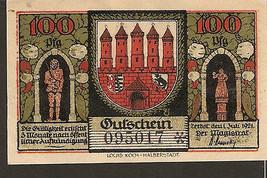 nnt2. Germany Notgeld Zerbst in Anhalt 100 PFENNIG 1921  No. 095017 - $4.00