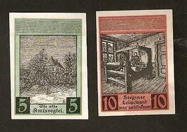 Nnt3. Germany Notgeld der Stadt Bergen a.d. Dumme  5 & 10 PFENNIG 1922 - $4.00