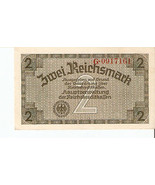 nfa. Germany banknote 2 Reichsmark Mark 1940 - 1945 Ser.G.0917161 - ₨650.22 INR