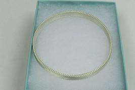 NEW Tiffany & Co Somerset Narrow Firm Mesh Bangle Bracelet Silver Pouch,... - $387.99