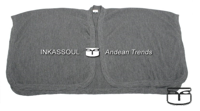 Primary image for INKASSOUL SQUARED WRAP WOMEN  -  40%alpaca & 10%wool & 50%acrylic, AU-404 (grey)