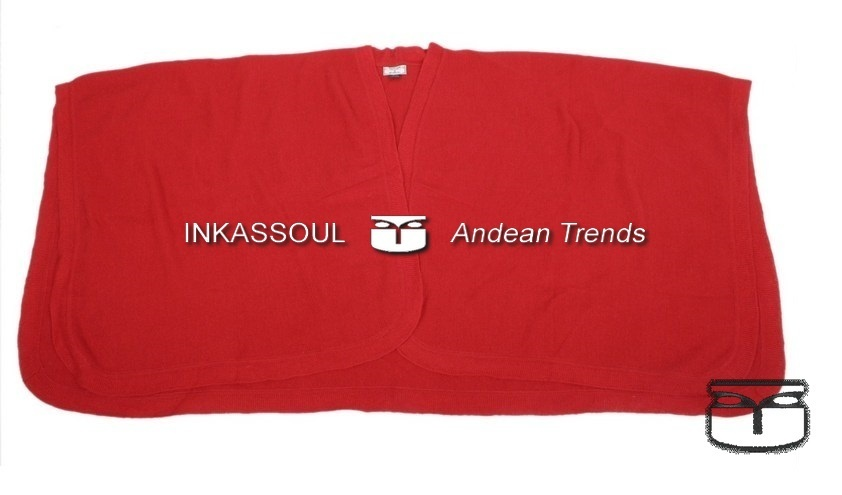 Primary image for INKASSOUL SQUARED WRAP WOMEN  -  40%alpaca & 10%wool & 50%acrylic, AU-610 (red)