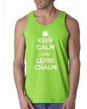 005 Keep Calm Leprechaun Tank Top Irish funny st. patricks drunk beer pa... - €11,49 EUR+