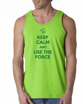 020 Keep Calm Use the Force Tank Top yoda jedi star nerd movie funny new... - €13,74 EUR+