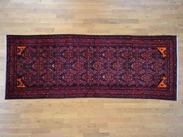 """5'x13'2"""" Semi Antique Persian Malayer Pure Wool Runner HandKnotted Rug G... - $856.34"""