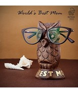 Eximious India Wooden Owl Eyeglass Spectacle Holder Handmade Stand for O... - $10.97