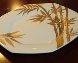 "Mikasa Bone China Katsura Bamboo 8.5"" Salad Plates Gold A7203 NO UTENSIL MARKS"