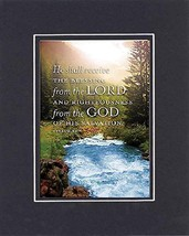 GoodOldSaying  Poem for Inspirations - [He shall receive the blessing fr... - $11.14