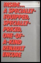 1985 Renault Encore Special Edition Sales Brochure - $9.81